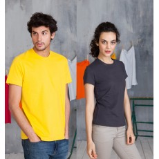 T-SHIRT COL ROND MANCHES COURTES 180 G