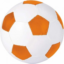 BALLON DE FOOT BLANC/ORANGE SANS MARQUAGE