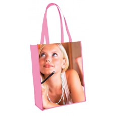 Sac laminé shopping vertical brillant personnalisable