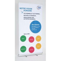 ROLLER BANNER 200 X 80 CM RECTO SEUL - STRUCTURE + TOILE + SAC