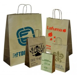 SAC KRAFT HAVANE BIODEGRADABLE 32X12X42CM