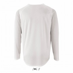 TEE-SHIRT SPORT HOMME MANCHES LONGUES BLANC S A 2XL