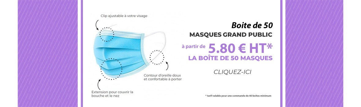Masque chirurgical jetable